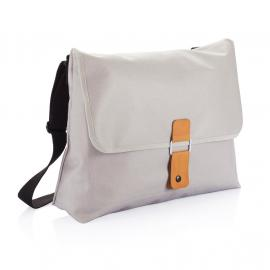 Pure messenger bag, grey GREY