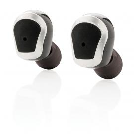 True wireless double earbuds BLACK