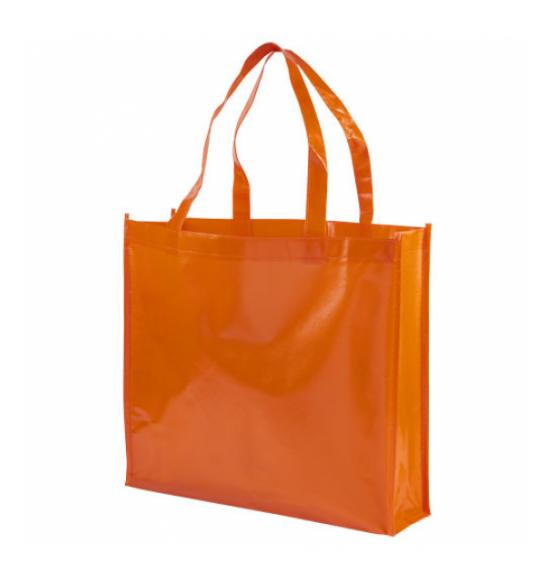 Shiny-kauppakassi, Laminoitu, Non-woven Orange