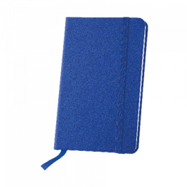 Notebook A6 with elastic and reading band, 80 sheets Dark blue